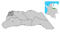 Ubicación de Saravena en Arauca