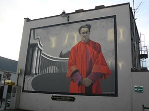 Mural of Monsignor Hugh O'Flaherty in Killarney, Ireland.jpg