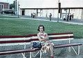 Nő ül a padon, 1963 - Fortepan 15524.jpg