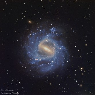 NGC 1073 - RGB image of the galaxy NGC 1073. Data from the Liverpool Telescope, processed by Göran Nilsson. Total exposure time one hour.