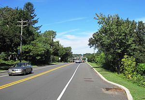 New Jersey Route 28 - Westbound along Route 28 before CR 567 on the Bridgewater–Raritan municipal line