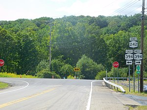 New York State Route 242 - NY 242 at the junction with NY 394 in Coldspring