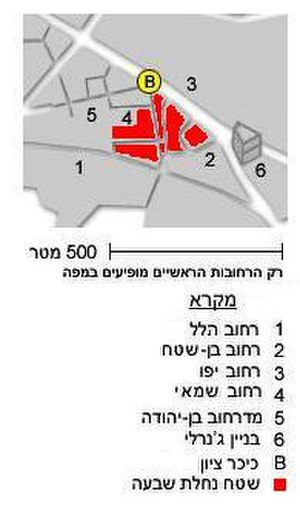 Nahalat Shiv'a - Image: Nachalat Shiv'a's Map 2