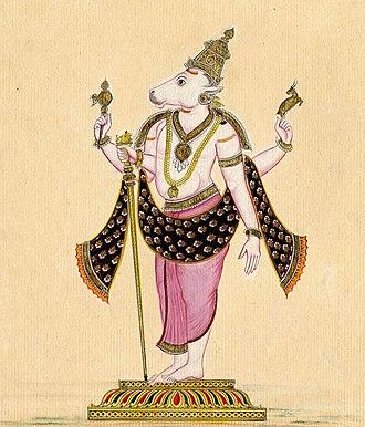 Nandi (bull) - Nandi in a zoo-anthropomorphic form