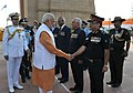 Narendra Modi meets war veterans of 1965, during the paying homage ceremony to the brave soldiers, who devoted their lives to the nation & fought bravely in 1965, at Amar Jawan Jyoti, India Gate.jpg