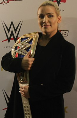 Natalya as the SD Women's Champion in 2017.jpg