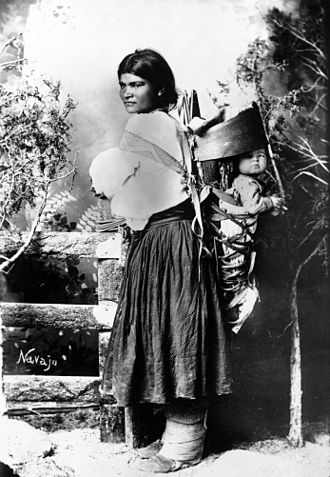 Navajo - Navajo woman and child, circa 1880–1910