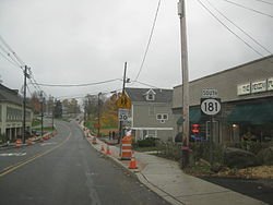 Downtown Sparta on a rainy day in October 2009.