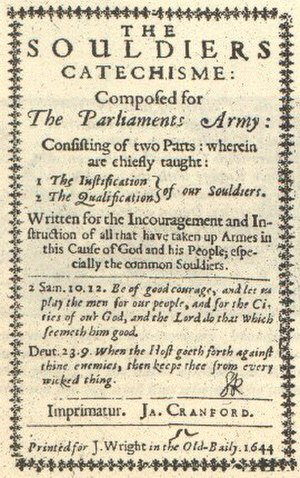 New Model Army - Image: New Model Army Soldier's catechism