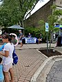 New Trier Democrats straw poll at Wilmette sidewalk sale 20170722 135554.jpg