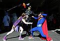 New York Comic Con 2015 - Bizarro Girl & Brainiac vs Superman (21932725229).jpg