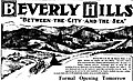 Newspaper advertisement for Beverly Hills subdivision, 1906.jpg