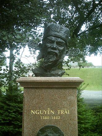Nguyễn Trãi - Nguyễn Trãi, monument in Quebec City