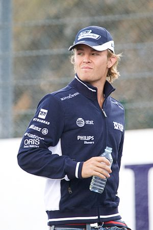 Nico Rosberg at the 2008 Belgian Grand Prix.