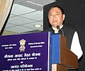 Ninong Ering addressing at the launch of the Maulana Azad Sehat Scheme for the children of Minority Schools in India and pilot project of the Nalanda Scheme, a faculty assistance programme in Minority Colleges, in New Delhi.jpg