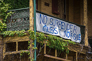 Millers Point, New South Wales - Protest Signs in 2014