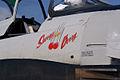 North American T-28C Trojan Sherry Berry NoseArt TICO 13March2010 (14412868060).jpg