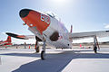 North American T-2C Buckeye BuNo 156702 LFrontLow TICO 16March2014 (14486700277).jpg
