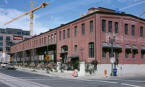 North Bank Depot Buildings - The east building's exterior in 2000