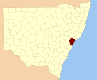 Northumberland County, New South Wales - Location in New South Wales