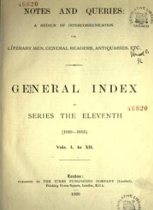 Notes and Queries - Series 11 - General Index.djvu