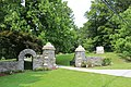 Oaklands Cemetery Gates in West Chester, Pennsylvania. Photo taken in June 2019.jpg