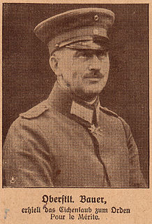 Max Bauer German artillery expert in the First World War