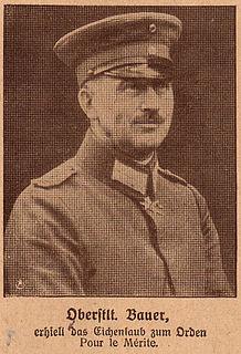 German artillery expert in the First World War
