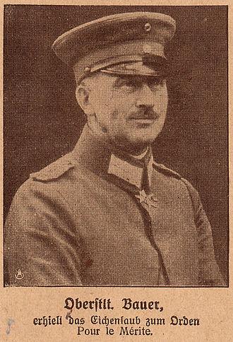 Max Bauer - Max Bauer in 1918