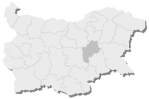 21st MMC – Sliven -  Map of Bulgaria, 21st MMC – Sliven is highlighted
