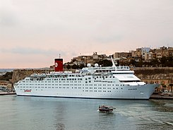 Ocean Dream in Grand Harbour, Valletta, Malta in Pullmantur livery.jpg