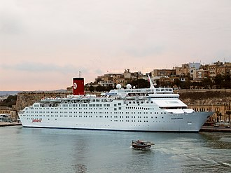 Pullmantur Cruises - MS Ocean Dream at Valletta sporting the old Pullmantur livery.