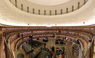 Stockholm Public Library - The inside of the rotunda