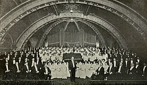 Weber Stake Tabernacle - The Ogden Tabernacle Choir and Organ in 1914.