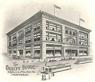 "Ogilvy (department store) - ""The Ogilvy Store,"" St. Catherine and Mountain streets, Montreal, 1906."