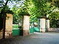 Ogród Strzelecki ogrodzenie w Tarnowie, ul. Piłsudskiego- Słowackiego (-) 1 pavw..JPG