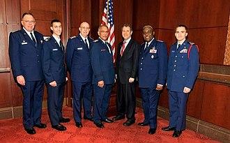 Sherrod Brown - Ohio Wing Civil Air Patrol delegation with Brown in 2012