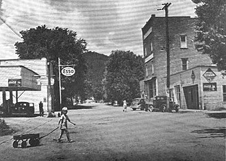 "Butler, Tennessee - Main Street in ""old"" Butler, before inundation"