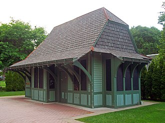 Yorktown, New York - The Tudor Revival New York Central railroad station in Yorktown Heights