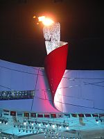 Olympic torch at Closing Ceremony.jpg