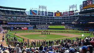 2009 Texas Rangers season - Opening Day at Rangers Ballpark, April 6, 2010