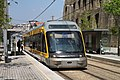 A Porto Metro train at Jardim do Morro station, Gaia.
