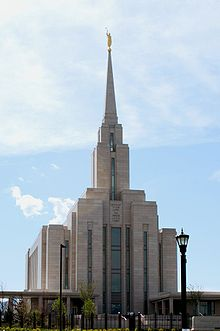 Oquirrh Mountain Utah Temple in May 2009.