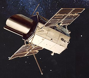 Orbiting Astronomical Observatory - Artist's conception of OAO-1 in orbit