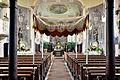 Orsenhausen Pfarrkirche Blick zum Chor mit Fronleichnamsbaldachin.jpg