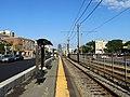 Outbound platform at Pleasant Street station, July 2019.JPG