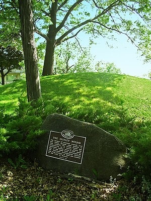 Monona, Wisconsin - Outlet Mound marker