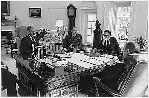 Graham Martin - Image: Oval Office Meeting, President Ford, Martin, Weyland, Kissinger, 25.March 1975