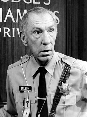 Owen Bush - Bush as Bailiff Belson in Sirota's Court, 1976.