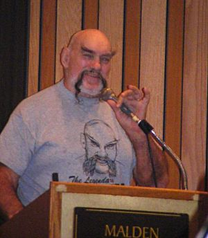 Ox Baker - Ox Baker speaks at the Killer Kowalski Memorial Show in Malden, Massachusetts on October 26, 2008.